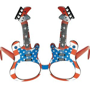 Patriotic Guitar Glasses