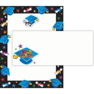 Graduation Printable Invitations Kit 75pc