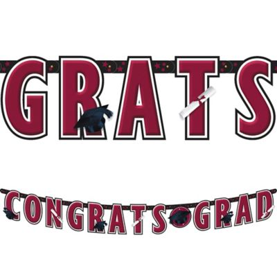 Berry Graduation Letter Banner