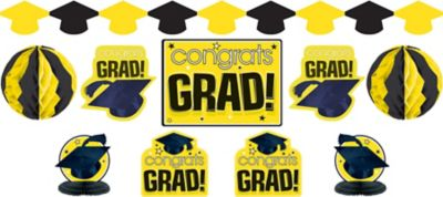 Yellow Graduation Decorating Kit 10pc