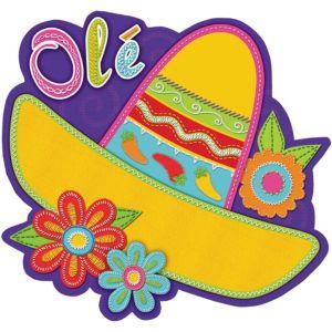 Sombrero & Flowers Fiesta Cutout