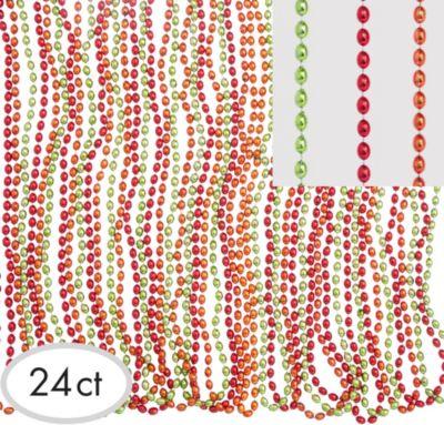 Fiesta Metallic Bead Necklaces 24ct