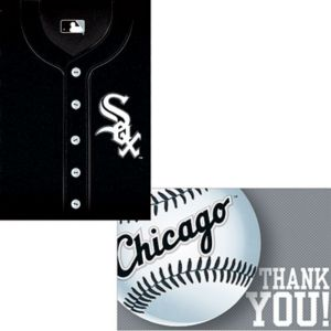 Chicago White Sox Invitations & Thank You Notes for 8