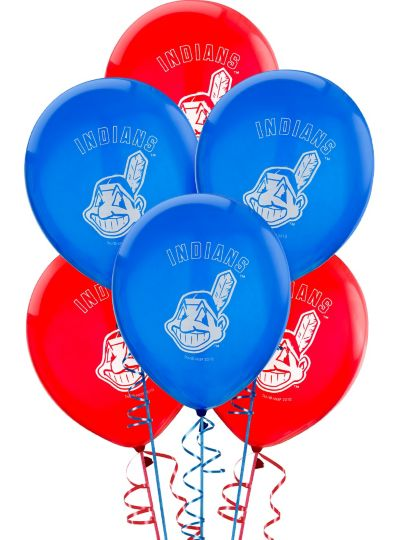 Cleveland Indians Latex Balloons 12in 6ct