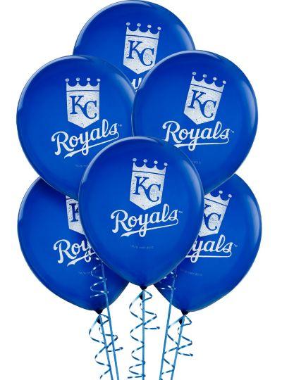 Kansas City Royals Latex Balloons 12in 6ct