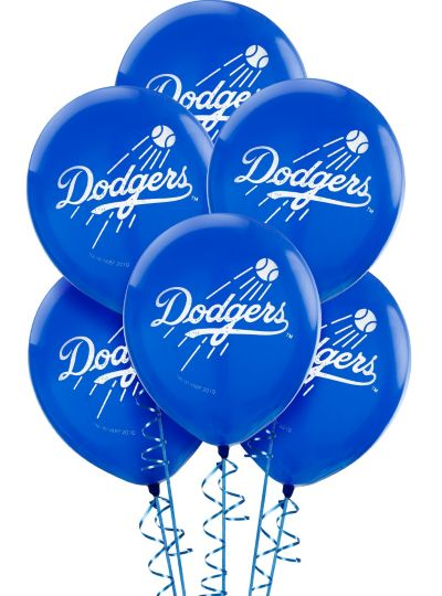 Los Angeles Dodgers Latex Balloons 12in 6ct