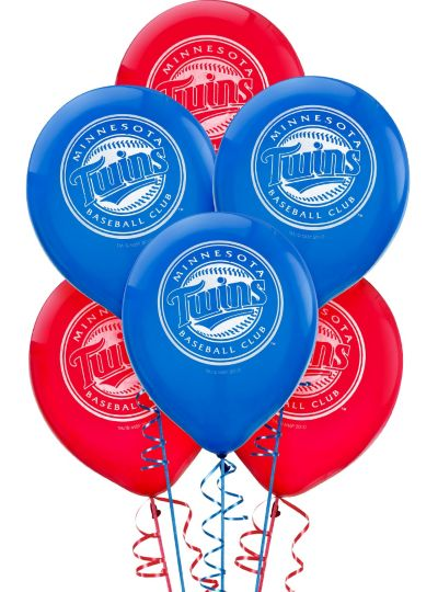 Minnesota Twins Latex Balloons 12in 6ct