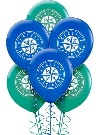 Seattle Mariners  Latex Balloons 12in 6ct