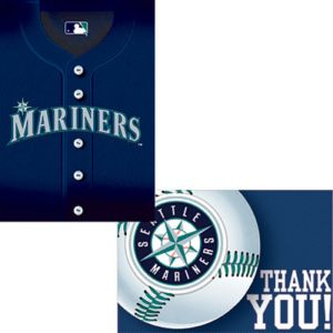 Seattle Mariners Invitations & Thank You Notes for 8