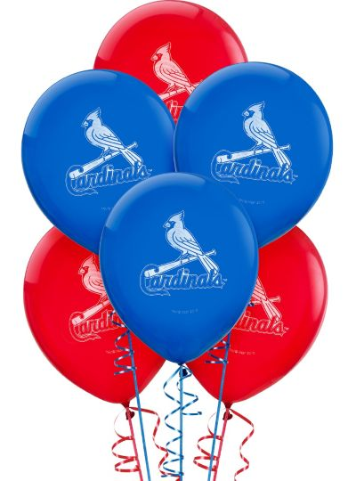 St. Louis Cardinals  Latex Balloons 12in 6ct