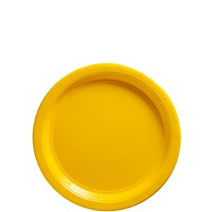 Sunshine Yellow Paper Dessert Plates 20ct