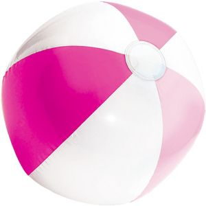 Pink and White Beach Ball