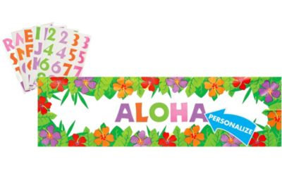 Personalized Hibiscus Banner
