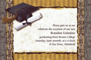 Custom Golden Grad Invitations