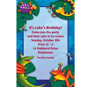 Custom Leap Frog Friends Invitations