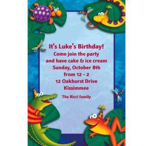 Custom Leap Frog Friends Invitations