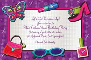 Custom Glitzy Girl Invitations