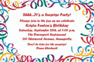 Custom Party Streamers Birthday Invitations