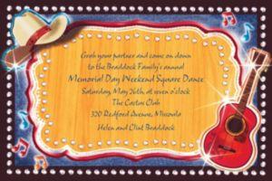 Custom Country Western Invitations