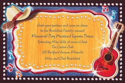 Custom Country Western Invitations