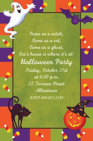 Custom Scary Fun Halloween Invitations