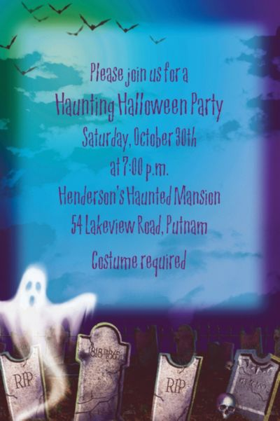 Custom Mostly Ghostly Halloween Invitations