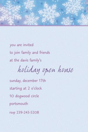Custom Snowy Breeze Invitations