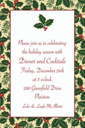 Custom Holiday Treasures Invitations