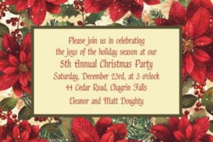 Custom Snowy Botanical Christmas Invitations