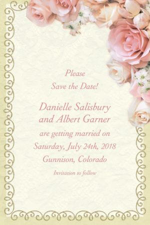 Custom Dazzling Bouquet Bridal Shower Invitations