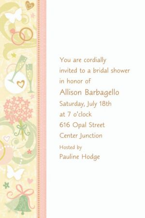 Custom Tying the Knot Bridal Shower Invitations