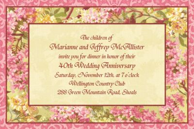 Custom Tapestry Blossom Invitations
