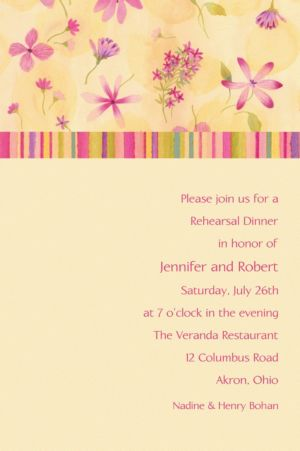 Custom Watercolor Garden Invitations