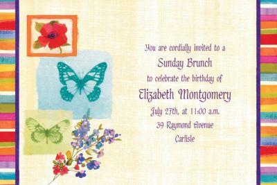 Poppy Botanical Custom Invitation