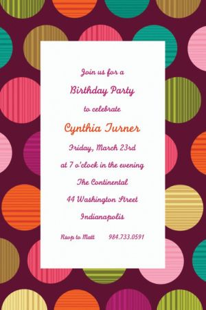 Custom On the Dot Invitations