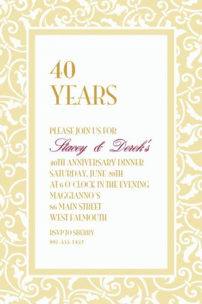 Vanilla Ornamental Scroll Custom Invitation