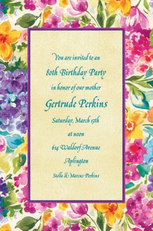 Custom Floral Impressions Invitations