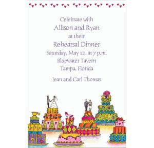 Custom Wacky Wedding Cakes Wedding Invitations