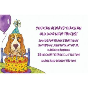 Custom Dog Years Birthday Invitations