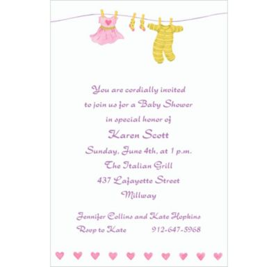 Custom Little Laundry Baby Shower Invitations