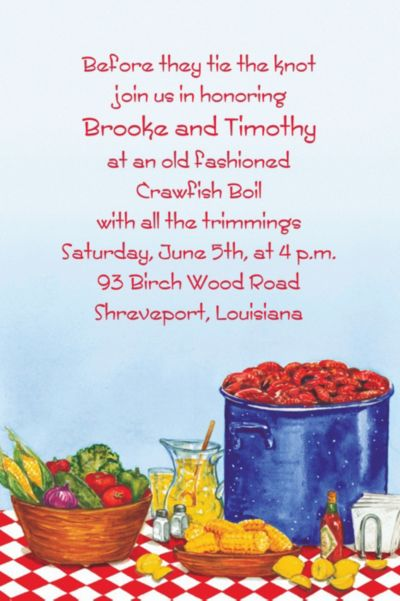 Party with Crawfish Custom Invitation