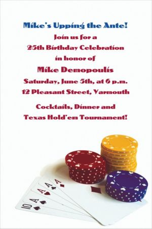Custom Poker Table Invitations