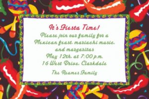 Custom Chilis and Maracas Invitations