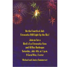 Custom Fireworks Invitations