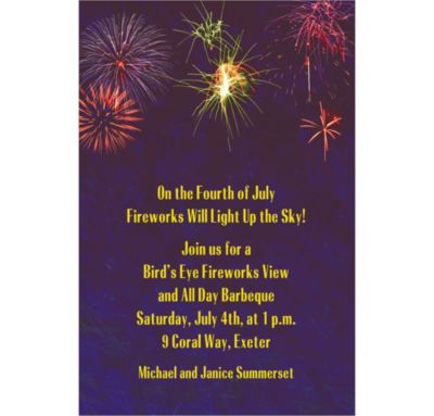 Fireworks Custom Invitation