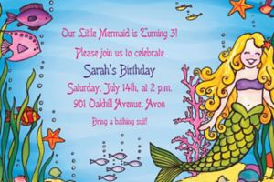 Custom Underwater Mermaid Invitations