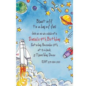Custom Outerspace Adventure Invitations