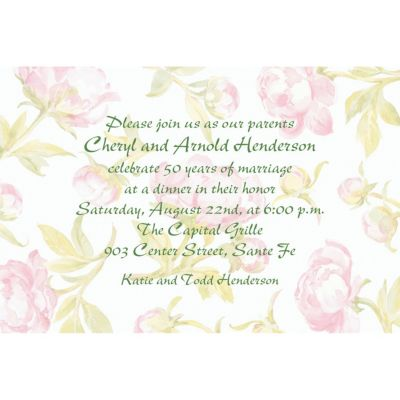 Custom Soft Peony Background Invitations