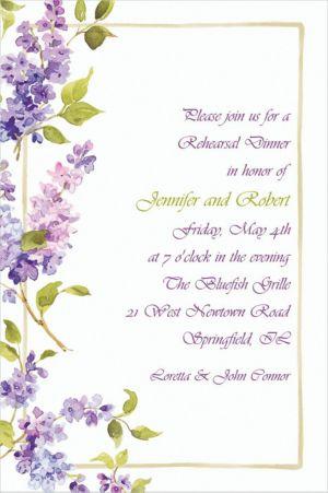 Custom Pretty Posed Lilacs Invitations