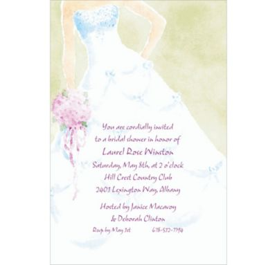 Custom Soft Fashion Gown Wedding Invitations